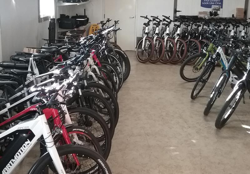 Inside of Electric Bike Shop