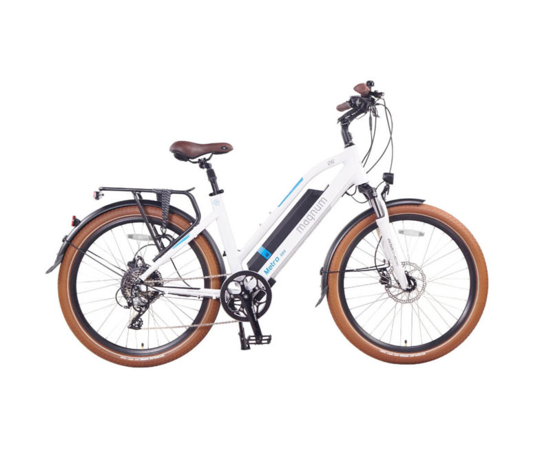 Magnum Metro LS Electric Bike White Frame