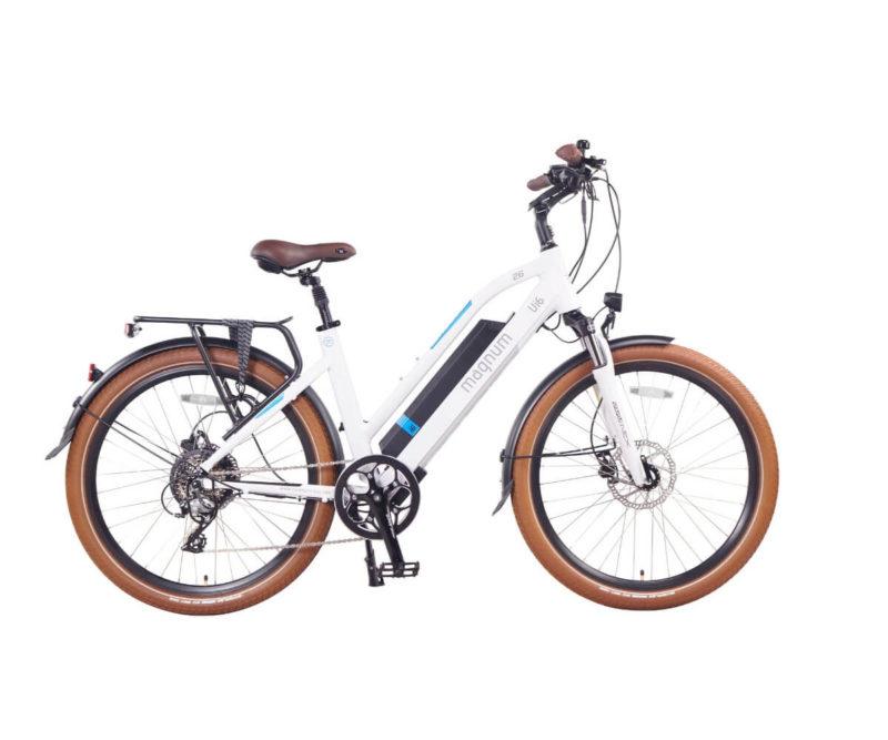 Magnum Ui6 Electric Bike White frame