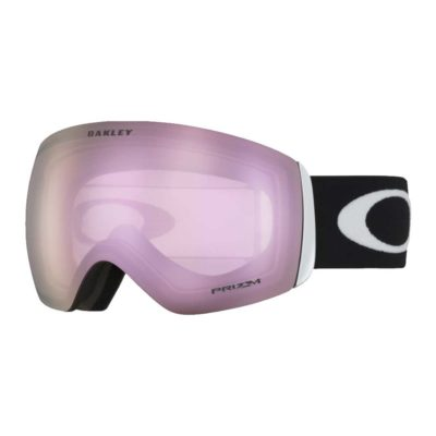 Oakley Flight Deck Hi Pink Prizm Snow Goggles in Matte Black