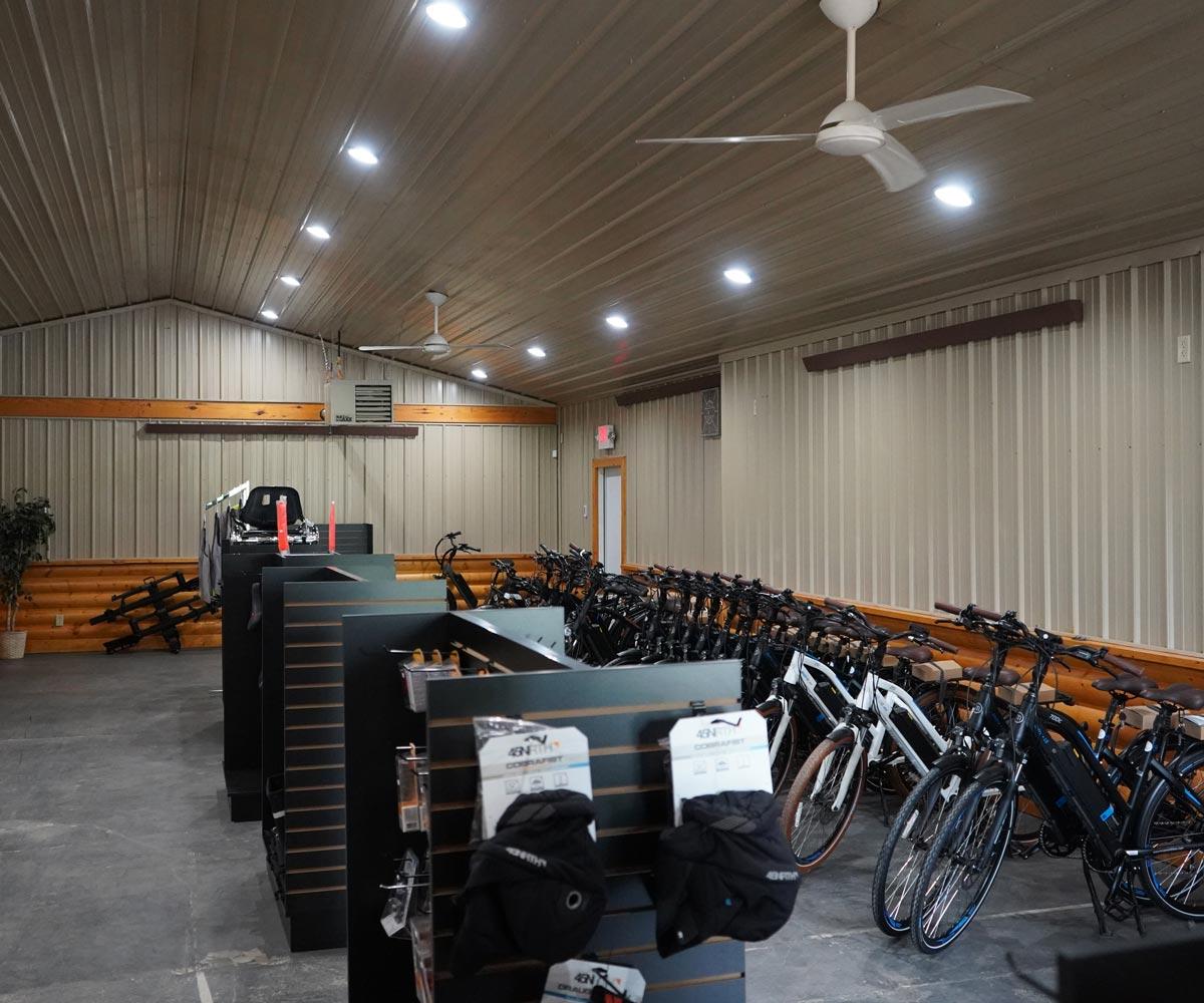 E-bikes showroom in Holmesville, Ohio