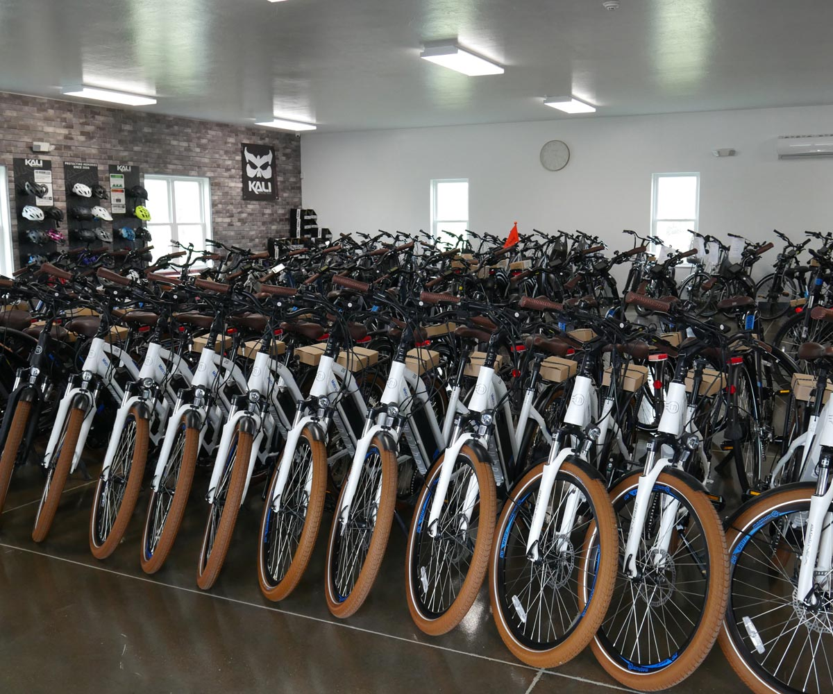 E-bike showroom in Mt. Hope, Ohio.